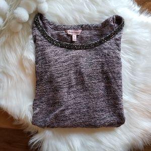 NWOT Juicy Couture Embellished Cold Shoulder Top